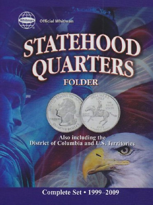 Official Whitman Statehood Quarters Folder Complete 50 State Set + Territories