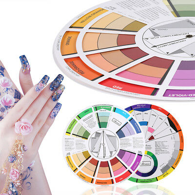 Artists Color Wheel Mixing Guide 23.5cm Diameter Nail Tattoo Color Wheel SG