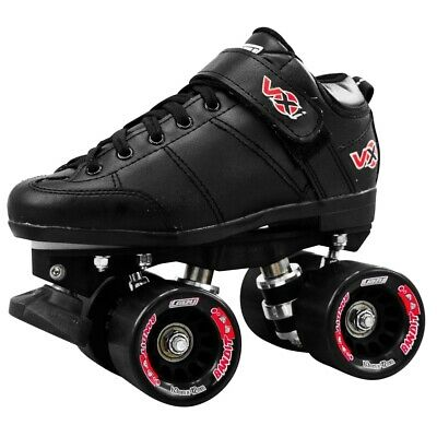 Crazy VXi Roller Skates - Black - NEW Kids & Mens Speed Rollerskates CLEARANCE
