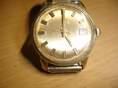 Vintage Gold Filled Case Elgin 997 17J Automatic Swiss Made Watch  - Works Good