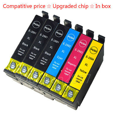 6 Combo Pack Ink Cartridges for Epson XP235 XP332 XP335 XP432 XP435 Printher