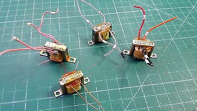 4 x Signal Isolation transformer From Military test Gear