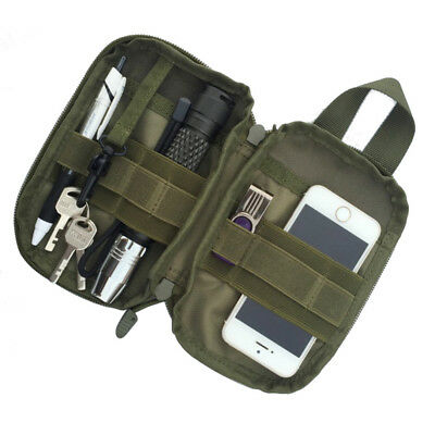 Nylon Tactical Bag Molle Military Waist Fanny Pack Phone Case Mini Tool Pouch