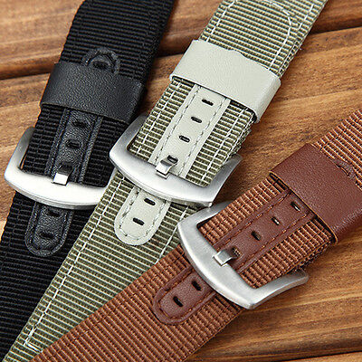 Leather Nylon Watch Strap Band For Samsung Xiaomi Pebble Time ASUS Zenwatch 2