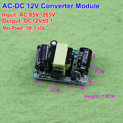 AC-DC Step Down AC110V 220V 230V to DC 12V Power Supply Converter Module Adapter