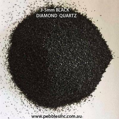 1-3 OR 3-5mm DIAMOND BLACK QUARTZ AQUARIUM GRAVEL - 10KG