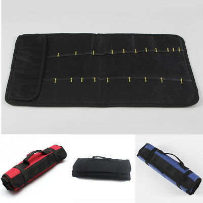 22-Pocket Plier Screwdriver Spanner Carry Case Pouch Hardware Tools Roll Bag