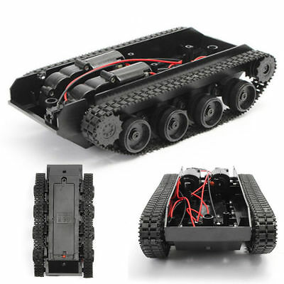 Smart Robot Tank Car Chassis Kit Rubber Track Crawler for Arduino 130 Motor