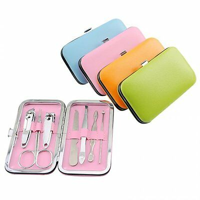 7 PCS Pedicure Manicure Set Nail Clippers Cleaner Cuticle Grooming Kit Case