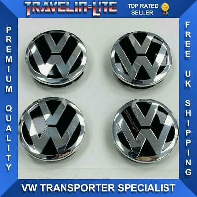 For VW T5 T5.1 T6 60mm Center Caps Fit Wolfrace Wheels Brand New