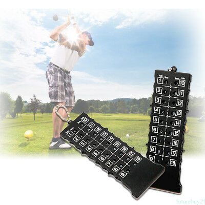 18 Hole Golf Stroke Putt Score Card Counter Indicator Tools (Key Chain ) Black