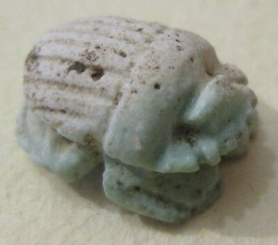 Egyptian Faience? Button In A Shape Of A Beetle Scarab Archaeology