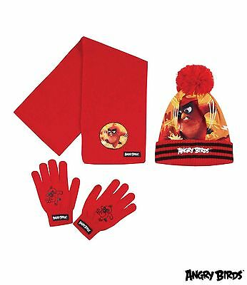 Angry Birds Scarf Hat & Gloves