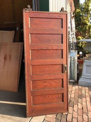 At 76 Antique Oak Single Pocket Door 36.5 X 84.5 X 1 And Seven Eights Inch