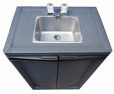 Portable Sink/ Hand Wash Sink/ Self Contained Sink cold water S/S Dark Gray