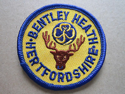 Bentley Heath Hertfordshire Girl Guides Woven Cloth Patch Badge