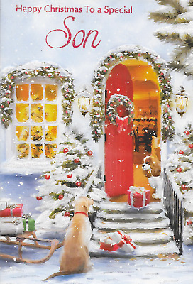 CC6 SPECIAL NANNA CHRISTMAS CARD CARD,TRADITIONAL CATS THEME,LOVELY VERSE
