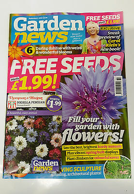 Garden News Magazine Sept 2015 with Free Nigella Persian Seeds