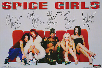 Lot Of 3 Posters: Music : Spice Girls - All 5 Posed - Free Ship #bg0002   Rc52 U