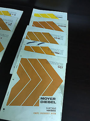 Service Manual Set Moyer Diebel Mdm Venders Original 5 Lot