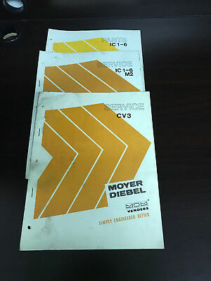 Service Manual Set Moyer Diebel Mdm Venders Original One 3 Lot