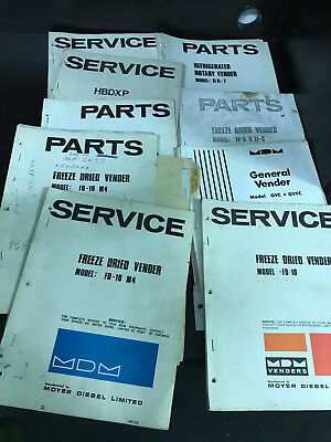 Service Manual Set Moyer Diebel Mdm Venders Original 9 Lot