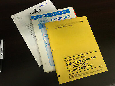 3 Misc Service Manual Set Vending Original 3 Lot Everpure
