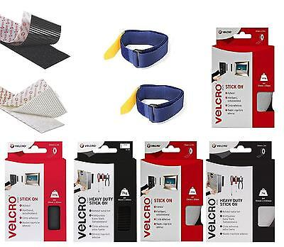 VELCRO ® BRAND HOOK LOOP Tape Strong Stick Double Sided Adhesive Wall Tape Meter