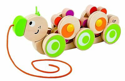 Hape Walk-A-Long Caterpillar Wooden Pull Toy Boosts Coordination And Balance New