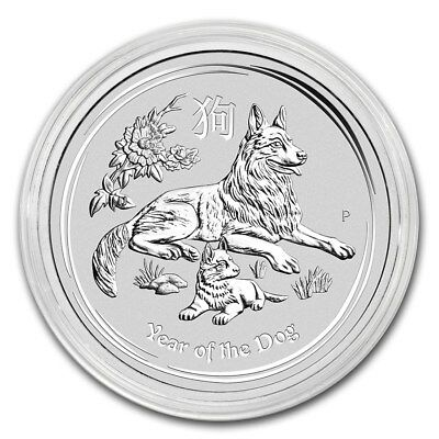 2018 Australian Lunar Series II Year Of The Dog 2 Ounce Silver Pre-Sale Coin
