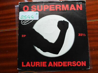 Single Promo Laurie Anderson - O Superman - Wb Spain 1981 Vg/vg+