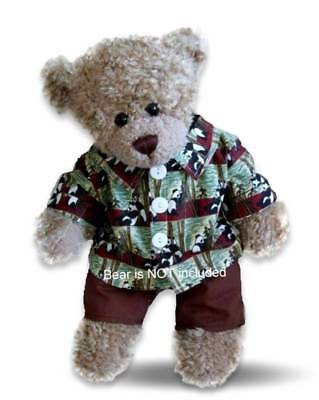 Teddy Bear Clothes fit Build a Bear Teddies Panda Shirt Outfit - IMPERFECT size