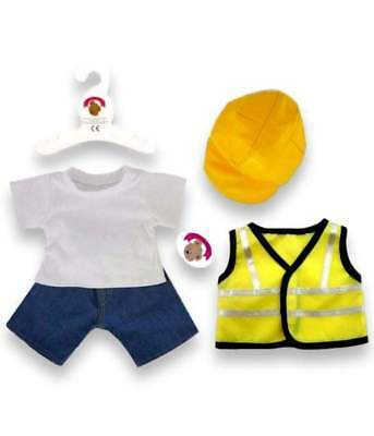 Teddy Bear Clothes fit Build Bear Teddies Construction Builder Outfit and Hi Viz