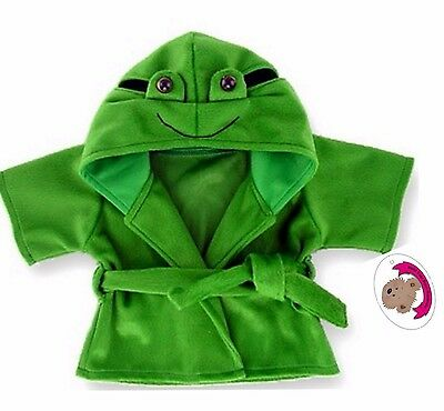 Teddy Bear Clothes fit Build a Bear Teddies Frog Robe Dressing Gown Clothing