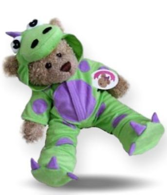 Teddy Bear Clothes fits Build a Bear Teddies Dinosaur Fleece Outfit and Slippers