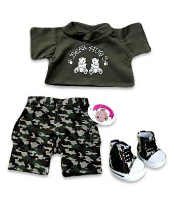 Teddy Bears Clothes fits Build a Bear Boys Camouflage Outfit with FREE Boots