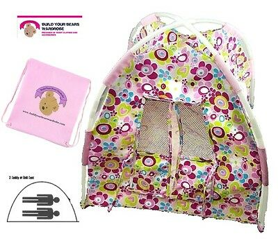 Teddy Bear Clothes fits Build a Bear Teddies Flower Tent Plus FREE Storage Bag