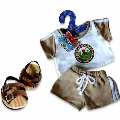 Teddy Bear Clothes fit Build a Bear Teddies Dinosaur Shorts Outfit - FREE Shoes