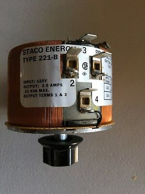 Staco variable autotransformer type 221-B
