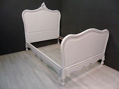 Antique French bed / Painted French bed /  (BR437)