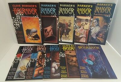 Clive Barker's Hellraiser Lot  1-3, 5, 7, 12, 13, 15, 16, 20 Pinhead 10 Issues!