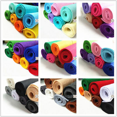 Lot 7 Color Roll STIFF Felt Fabric Non Woven Sheet Thick Craft Patchwork Bundle