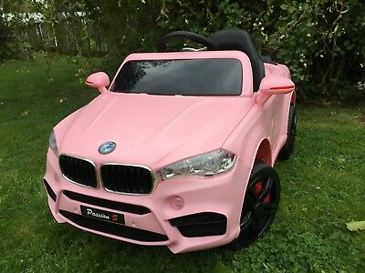 2017 KIDS BMW X5 STYLE RIDE IN ON CAR CHILDS 12v ELECTRIC BATTERY-PINK