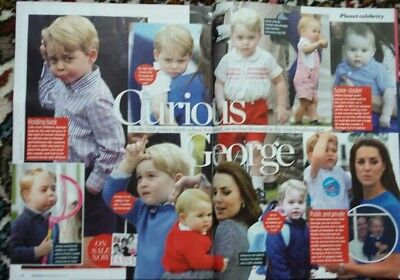 UK~Prince GEORGE/KATE MIDDLETON~8.9.2017 Newspapers + 2 pages from mag.