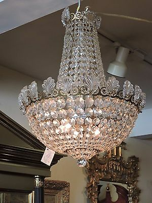 Schonbeck Small Crystal Chandelier empire style