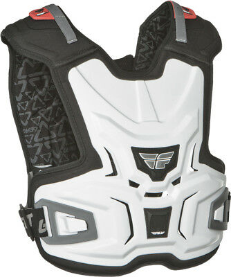 Fly Racing White Youth Junior Lite Chest Roost Protector Dirt Bike by Leatt MX