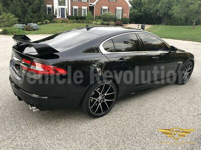 Jaguar X250 XF to XFRS Full Body Kit Upgrade 12-15 Side Skirts and Big Spoiler