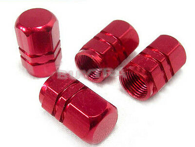 8 X Red Wheel Tyre Tire Valve Stems Air Dust Cover Screw Caps Car Truck BikeWS9
