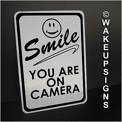 """YOUR VIDEO SURVEILLANCE SIGN ALUMINUM 7"""" BY 10"""" SMILE YOU ARE ON CAMERA you're"""