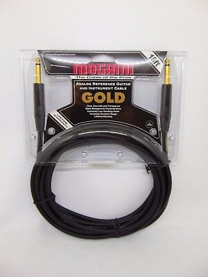 Mogami Gold Instrument 18 Guitar / Instrument Cable Straight Ends 18' New!